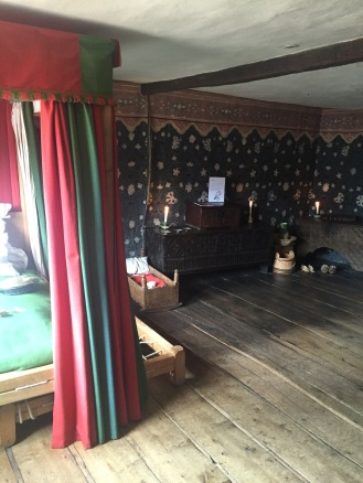 Bedroom where Shakespeare was born